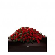 Passionate Red Casket Spray