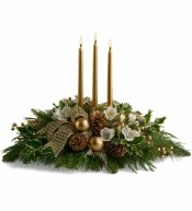 Golden Centrepiece with Candles
