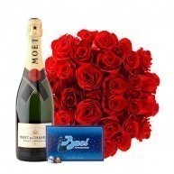 Passion - 36 Red Roses with Moet & Baci