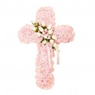 Pink Silk Cross