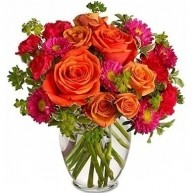 Orange and Pink Floral Touch