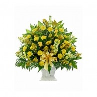 Yellow Sympathy Bouquet