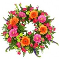 Wreath With Orange & Pink Tones
